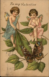 To My Valentine - Cherubs and Butterfly