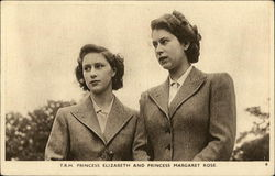 Princesses Elizabeth and Margaret Rose