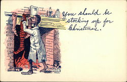 You Should Be Stocking Up For Christmas Postcard