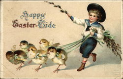 Happy Easter-Tide - Chicks and Boy