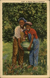A Happy Pair in Dixieland: Children with Watermelon