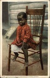 African American Toddler in Chair