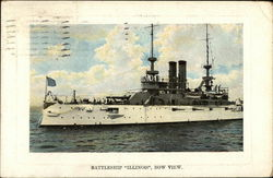 "Battleship ""Illinois"", Bow View"