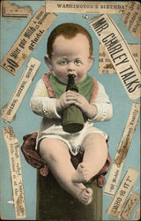 Baby Drinking Bottle Collage with newspaper clippings