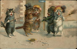 Cats Singing in the Street for Donations