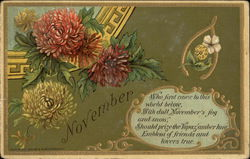 Flowers and Topaz with November Poem