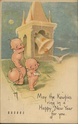 New Year Kewpies Postcard