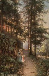 Two Girls on a Forest Path