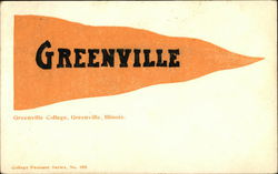 Greenville Pennant Postcard