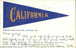 California State University Pennant Postcard