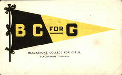 Blackstone College for Girls Pennant