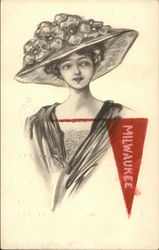 Woman with Milwaukee Pennant