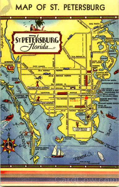 Map Of St. Petersburg Florida Maps