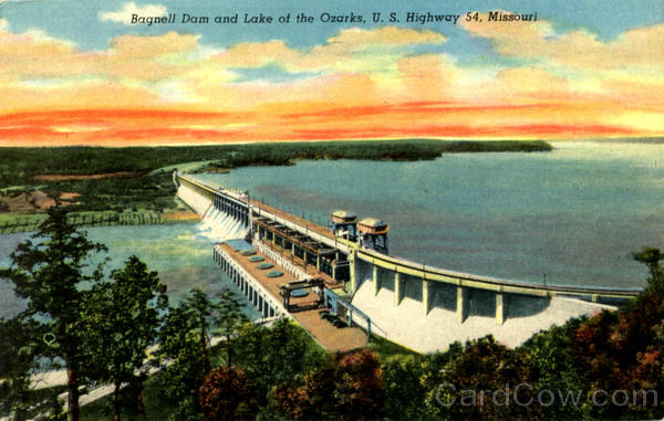 Bagnell Dam And Lake Of The Ozarks, U. S. Highway 54 Missouri