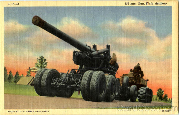 155 Mm. Gun Filed Artillery Army