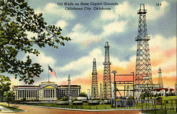 Oil Wells On State Capitol Grounds Oklahoma City