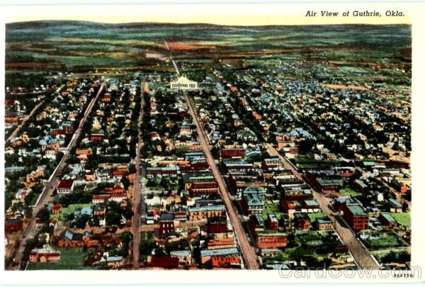 Air View Of Guthrie Oklahoma