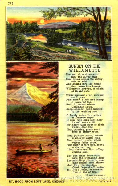 Sunset On The Willamette Poems