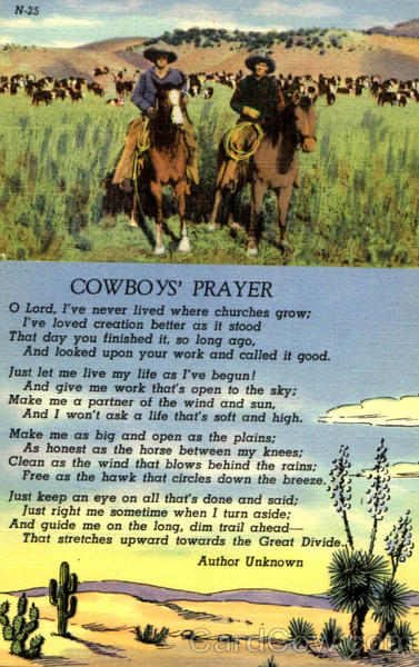 Cowboys Prayer Poems