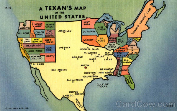 A Texans Map Of The United States Scenic TX - Us Map Texas