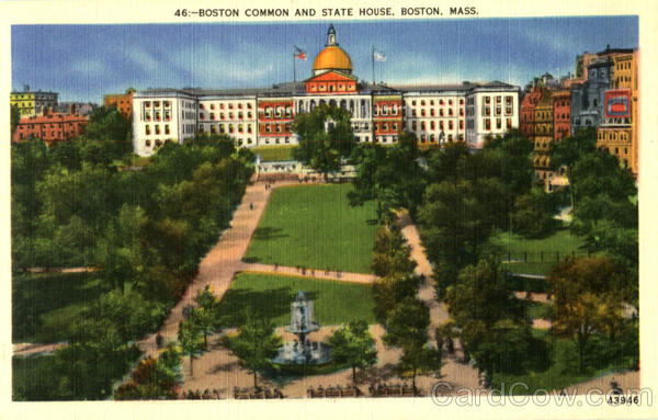 Boston Common And State House Massachusetts
