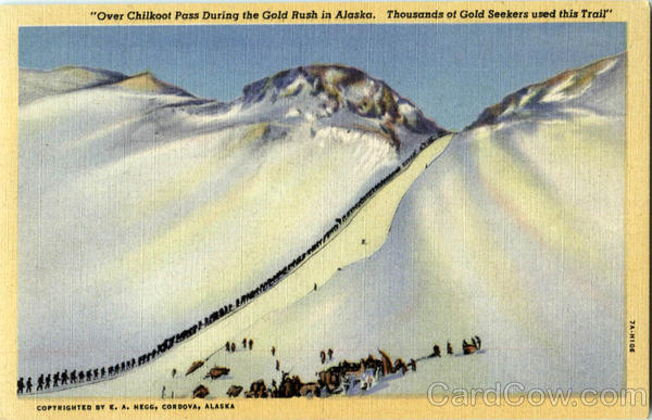 Over Chilkoot Pass During The Gold Rush In Alaska Scenic