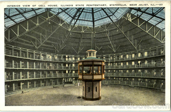 Interior View Of Cell House Joliet Illinois Prisons