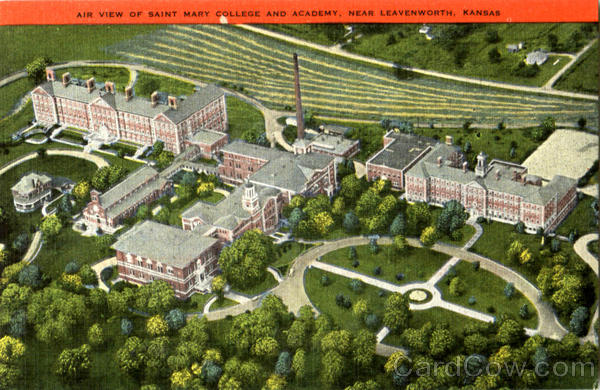 Air View Of Saint Mary College And Academy Leavenworth Kansas