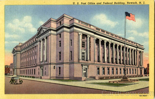 U. S. Post Office And Federal Building Newark New Jersey