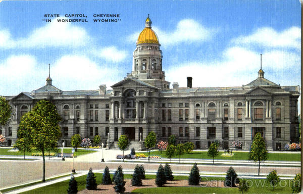 State Capitol Cheyenne In Wonderful Wyoming