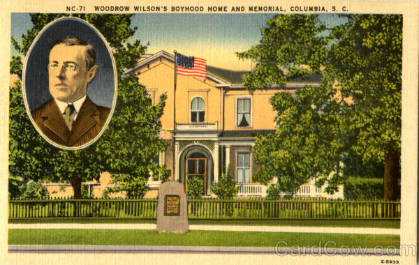 Woodrow Wilson's Boyhood Home And Memorial Columbia South Carolina