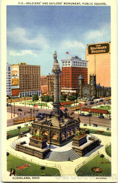 Soldiers And Sailors Monument, Public Square Cleveland Ohio