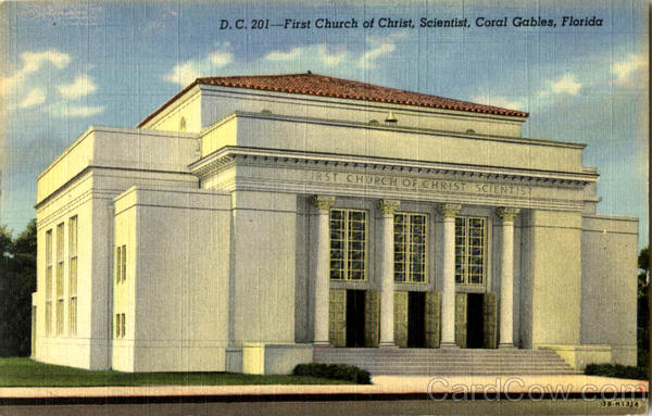 First Church Of Christ Scientist Coral Gables Florida