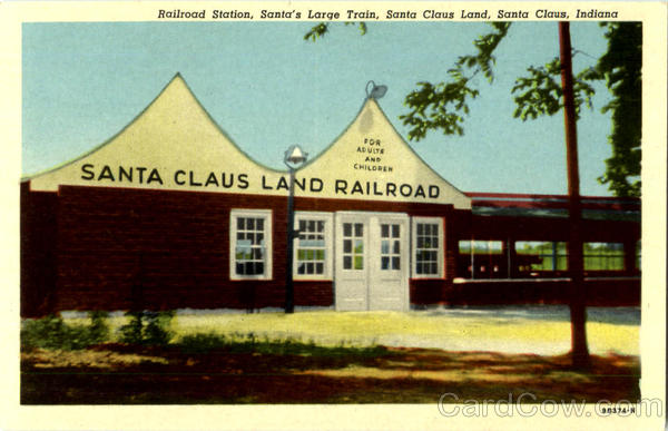 Railroad Station Santa Claus Indiana