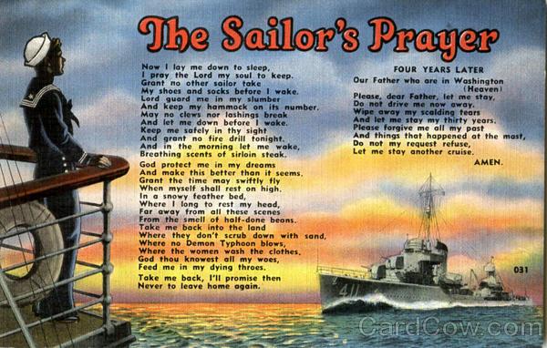 The Sailor's Prayer Navy