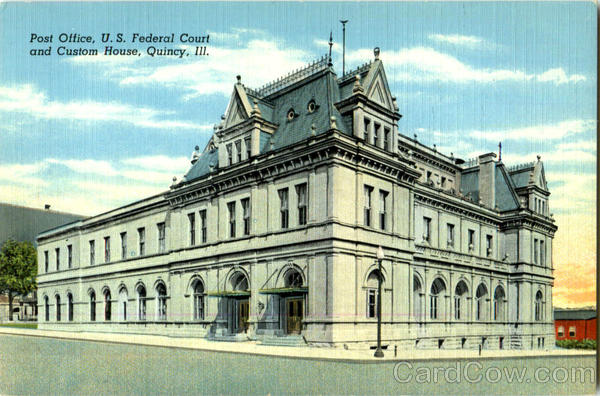 Post Office U. S. Federal Court And Custom House Quincy Illinois