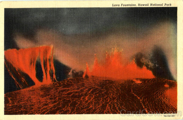 Lava Fountains, Hawaii National Park Scenic