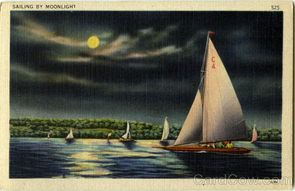 Sailing By Moonlight Sailboats