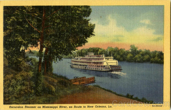 Excursion Steamer On Mississippi River Steamers