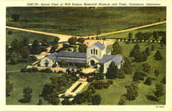Aerial View Of Will Rogers Memorial Museum And Tomb