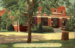 Administration Building At State Hospital Postcard