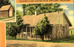 Teamster's Cabin And Fire House Postcard