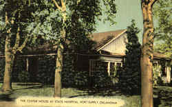 The Custer House At State Hospital Postcard