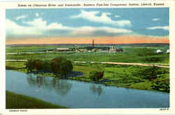 Scene On Cimarron River And Panhandle Postcard