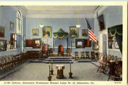 Interior Alexandria Washington Masonic Lodge No. 22