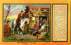 The Arkansas Traveller Postcard