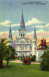 St. Louis Cathedral In New Orleans French Quarter