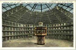 Interior View Of Cell House Postcard