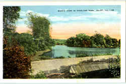 Scenic Vie In Highland Park Postcard