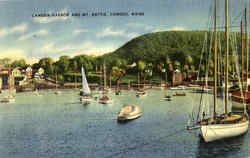 Camden Harbor And Mt. Battie Postcard